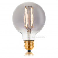 Ретро лампа светодиодная Smokey G95 LED 4W филамен (60мм) 2200К, E27, не диммируемая