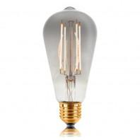 Ретро лампа светодиодная Эдисона «Vintage» не диммируемая ST64 LED 4W  4 филамента(60мм) 2200К,  Smokey стекло ,E27