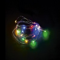 Гирлянда светодиодная Роса 2м 20LED RGB