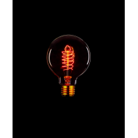 Ретро лампа накаливания Эдисона «Vintage» G80 F5  60 Вт E27 Золотой