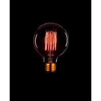 Ретро лампа накаливания Эдисона «Vintage» G95 F2 40W 240V E27 Золотая