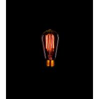 Ретро лампа накаливания Эдисона «Vintage» ST58 F2 60W Прозрачная