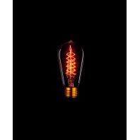 Ретро лампа накаливания Эдисона «Vintage» ST58 F5 60W (прозрачная)