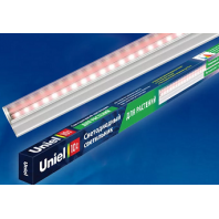 Светильник для растений светодиодный линейный ULI-P16-10W/SPLE IP20 WHITE 550мм, выкл. на корпусе. Спектр для рассады и цветения.