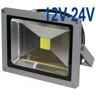 Прожектор светодиодный низковольтный 20Вт (12V-24V) FLU20S теплый белый