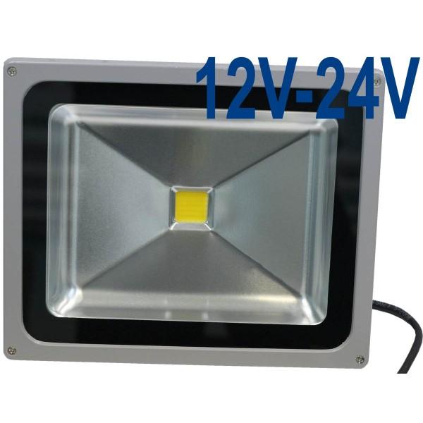 Прожектор светодиодный низковольтный 50Вт (12V-24V) FLU50C холодный белый