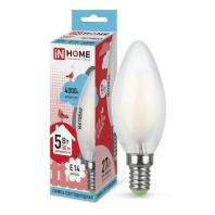 Cветодиодная лампаLED-СВЕЧА-deco 5Вт 230В Е14 4000К 450Лм матовая IN HOME