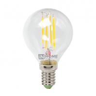 Cветодиодная лампа LED-ШАР-deco 5Вт 230В Е14 3000К 450Лм прозрачная IN HOME