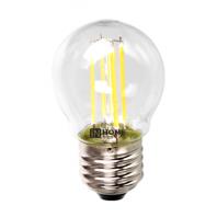 Cветодиодная лампа LED-ШАР-deco 5Вт 230В Е27 4000К 450Лм прозрачная IN HOME