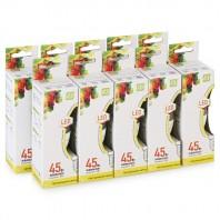 Упаковка светодиодиодных лампа 10шт СВЕЧА -standard E14 5Вт 3000К 450Лм