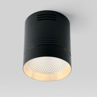 Светодиодный светильник Feron AL521 накладной 10W 4000K черный с золотым кольцом