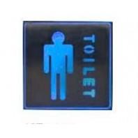 """Аккумуляторный аварийный светильник """"TOILET"""" (мужской туалет), EL53"""