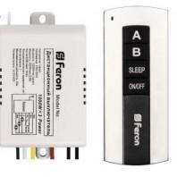 Выключатель дистанционный 230V 1000W 2-х канальный 30м с пультом управления, черное серебро TM75