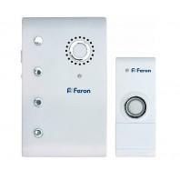 Звонок дверной беспроводной Feron Е-367 Электрический 35 мелодий белый с питанием от батареек