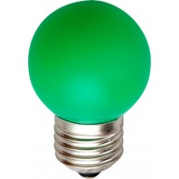 Лампа светодиодная Feron 5LED(1W) 230V E27 зеленый LB-37