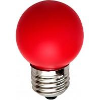 Лампа светодиодная Feron 5LED(1W) 230V E27 красный LB-37