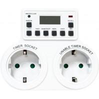 Розетка таймер (недельная) 3500W/16A 230V, TM25