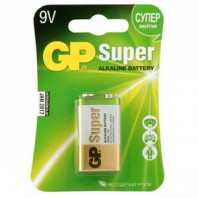 Алкалиновая батарейка GP Super Alkaline 9V Крона - 1 шт. на блистере