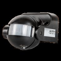 Датчик движения инфракрасный ДД-009-B 1200Вт 180 гр.12м IP44 черный