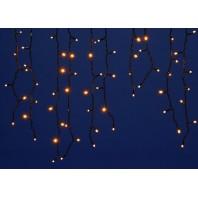 Бахрома светодиодная с эффектом мерцания, 3м. ULD-B3010-200/TBK  WARM WHITE IP67 Соединяемая. 200 светодиодов