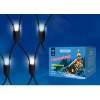 Сетка светодиодная с контроллером уличная, ULD-N2015-288/SBK  WHITE-BLUE IP67 Соединяемая. 288 светодиодов. Красно-синий свет. Провод черный.