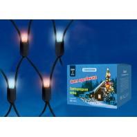 Сетка светодиодная с контроллером уличная, ULD-N2015-288/SBK RED-BLUE IP67 Соединяемая. 288 светодиодов. Красно-синий свет. Провод черный.