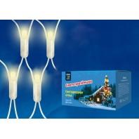 Сетка светодиодная с контроллером, 1,8х1,5м ULD-N1815-180/DTA WARM WHITE IP20.180 светодиодов. Теплый белый свет. Провод прозрачный