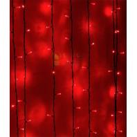 Светодиодный занавес 2х1 метров, 200 led цвет красный