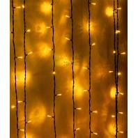 Светодиодный занавес 2х2 метра, 400 led цвет желтый