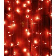 Светодиодный занавес 2x2м, 400 led цвет красный мерцание