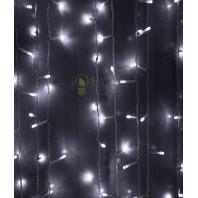 Светодиодный занавес 2x2м, 400 led цвет белый мерцание