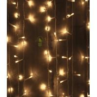 Светодиодный занавес 2x2м, 400 led цвет теплый белый мерцание