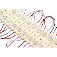 Линзованный модуль smd 2835 12 вольт 2 Led ip65 белый 6500К