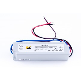 Блок питания для ленты IP 67 пластик LV-50-12