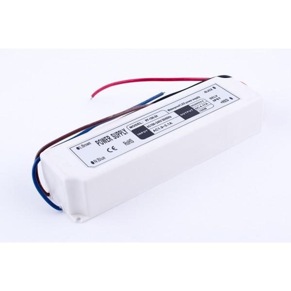 Блок питания для ленты IP 67 пластик 100 W, 24V