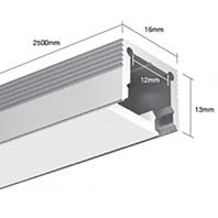 Профиль для светодиодной ленты подвесной LS.1613 для однорядной ленты