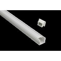 Профиль для светодиодной ленты 1612 Встраиваемый Глубокий (Экран + заглушки + крепеж + саморезы)