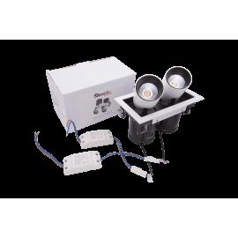 Встраиваемый LED светильник  SPL двойной  12 W 3000K GL 7117-1/12W