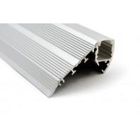 Профиль для светодиодной ленты STEP3819B  для ступенек (Экран + заглушки + крепеж + саморезы)