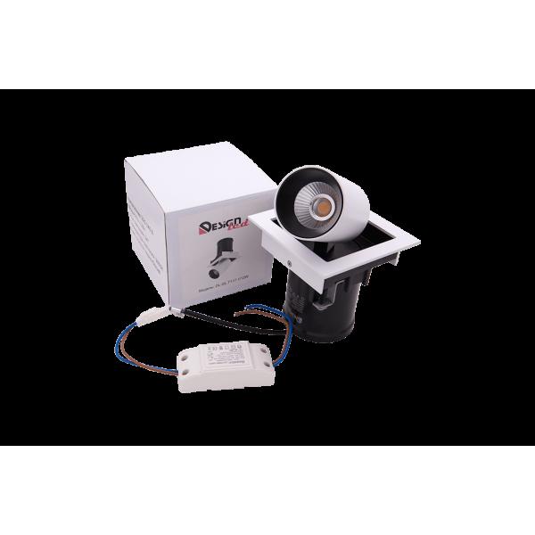 Встраиваемый LED светильник  SPL одинарный  12 W 3000K GL 7117-1/12W
