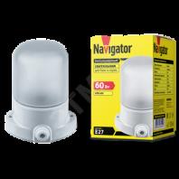 Светильник НПП-60w термостойкий для сауны и бани прямое основание белый IP54 (61509 NBL-SA1)