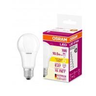 Лампа светодиодная OSRAM LED STAR Classic A 10.5W (замена100Вт), теплый белы свет, матовая колба, Е27