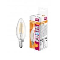 Лампа светодиодная филаментная OSRAM LED STAR Classic B 5W (замена 60Вт), диммируемая, нейтральный белый свет, прозрачная колба, Е14