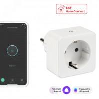 Умная розетка Wi-Fi EKF HomeСonnect белая RCS-1-WF
