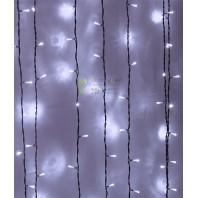 Светодиодный занавес 2х1 метров, 200 led цвет белый