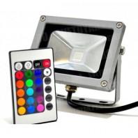 Светодиодный прожектор PFL-10W/RGB-RC/GR . Мультиколор.