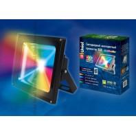Cветодиодный прожектор ULF-S01-50W/RGB/RC IP65 110-240В с пультом ДУ. Мультиколор. Упаковка картон. TM Uniel.