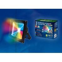 Cветодиодный прожектор ULF-S01-20W/RGB/RC IP65 110-240В с пультом ДУ. Мультиколор. Корпус серый. Упаковка картон. TM Uniel.