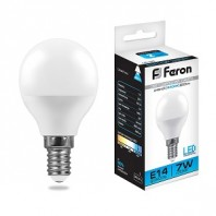 Лампа светодиодная LB-95 (7W) 230V E14 6400K G45