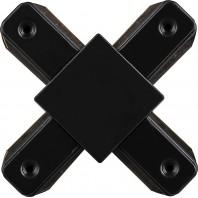 Коннектор Х-образный для шинопровода , черный, LD1002 Артикул 10331
